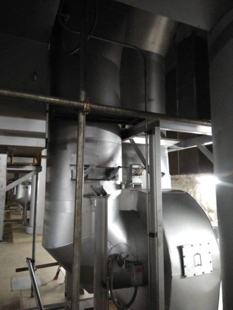火葬炉 排ガス煙道 取替工事